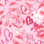 Lips n Hearts Wallpaper & Surface Covering