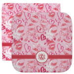 Lips n Hearts Facecloth / Wash Cloth (Personalized)