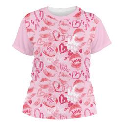 Lips n Hearts Women's Crew T-Shirt (Personalized)
