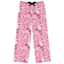 Lips n Hearts Womens Pajama Pants - XL (Personalized)