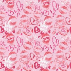 Lips n Hearts Wrapping Paper (Personalized)