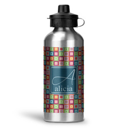 Retro Squares Water Bottle - Aluminum - 20 oz (Personalized)