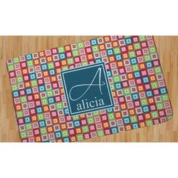 Retro Squares Area Rug (Personalized)