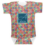 Retro Squares Baby Bodysuit (Personalized)
