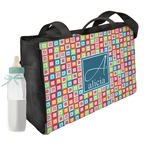 Retro Squares Diaper Bag (Personalized)