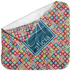 Retro Squares Baby Hooded Towel (Personalized)