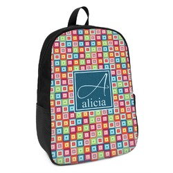 Retro Squares Kids Backpack (Personalized)