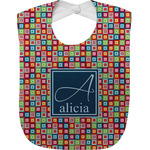 Retro Squares Baby Bib (Personalized)