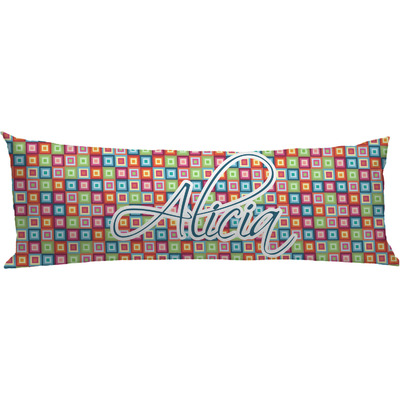 Retro Squares Body Pillow Case (Personalized)