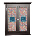 Retro Squares Cabinet Decal - Custom Size (Personalized)