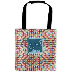Retro Squares Auto Back Seat Organizer Bag (Personalized)