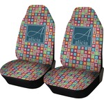 Retro Squares Car Seat Covers (Set of Two) (Personalized)