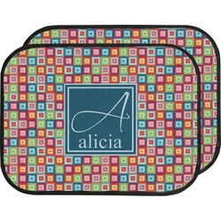 Retro Squares Car Floor Mats (Back Seat) (Personalized)