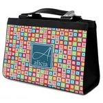 Retro Squares Classic Tote Purse w/ Leather Trim (Personalized)