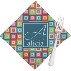 Retro Squares Napkins (Set of 4) (Personalized)