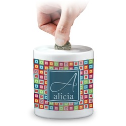 Retro Squares Coin Bank (Personalized)