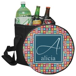 Retro Squares Collapsible Cooler & Seat (Personalized)