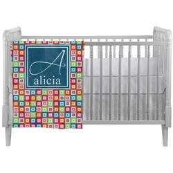 Retro Squares Crib Comforter / Quilt (Personalized)