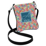 Retro Squares Cross Body Bag - 2 Sizes (Personalized)