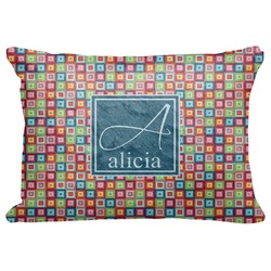 "Retro Squares Decorative Baby Pillowcase - 16""x12"" (Personalized)"