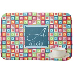 Retro Squares Dish Drying Mat (Personalized)