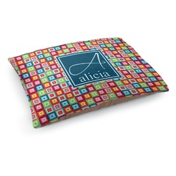 Retro Squares Dog Bed (Personalized)