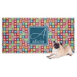 Retro Squares Pet Towel (Personalized)