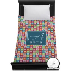 Retro Squares Duvet Cover - Twin (Personalized)
