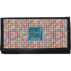 Retro Squares Canvas Checkbook Cover (Personalized)