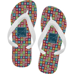 Retro Squares Flip Flops (Personalized)