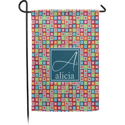 Retro Squares Garden Flags With Pole - Single or Double Sided (Personalized)