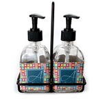 Retro Squares Glass Soap & Lotion Bottles (Personalized)