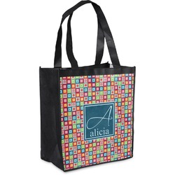 Retro Squares Grocery Bag (Personalized)