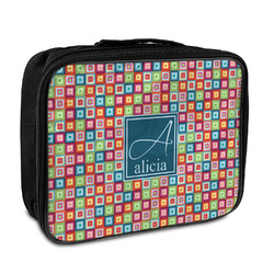 Retro Squares Insulated Lunch Bag (Personalized)