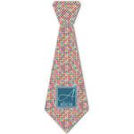 Retro Squares Iron On Tie - 4 Sizes w/ Name and Initial