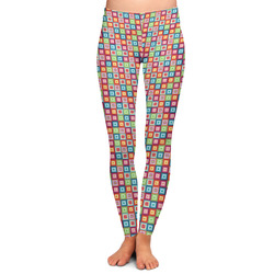 Retro Squares Ladies Leggings (Personalized)