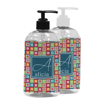 Retro Squares Plastic Soap / Lotion Dispenser (Personalized)