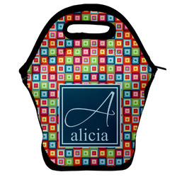 Retro Squares Lunch Bag (Personalized)