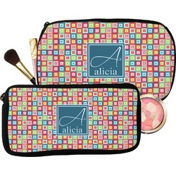 Retro Squares Makeup / Cosmetic Bag (Personalized)
