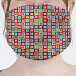 Retro Squares Face Mask Cover (Personalized)
