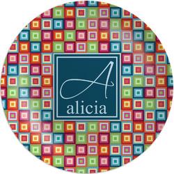 Retro Squares Melamine Plate (Personalized)
