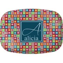 Retro Squares Melamine Platter (Personalized)