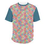 Retro Squares Men's Crew T-Shirt (Personalized)