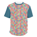 Retro Squares Men's Crew T-Shirt (Personalized)