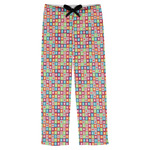 Retro Squares Mens Pajama Pants (Personalized)
