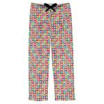 Retro Squares Mens Pajama Pants (Personalized)