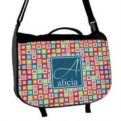 Retro Squares Messenger Bag (Personalized)