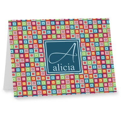 Retro Squares Note cards (Personalized)