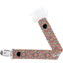 Retro Squares Pacifier Clips (Personalized)