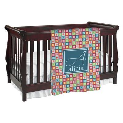 Retro Squares Baby Blanket (Personalized)